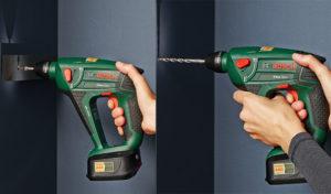 Borhammer og skrumaskin i samme verktøy. Bosch Uneo Maxx.