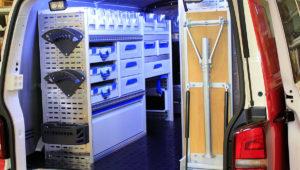 Sortimo innredning med LED belsning.