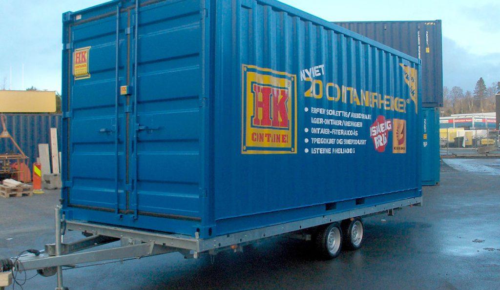 HK container tilhenger 20 fot
