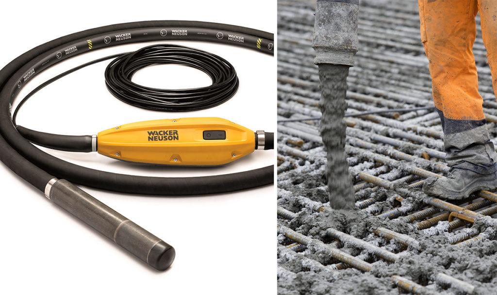 Wacker Neuson IEC stavvibrator - til komprimering av betong.
