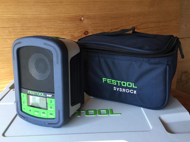 Premien er en Festool Sysrock DAB+ byggeradio