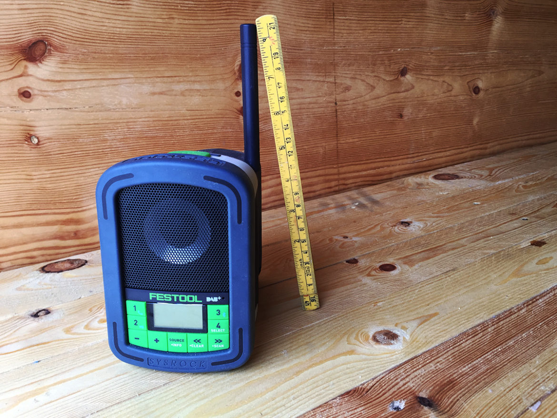 Festool Sysrock DAB+ byggeradio.