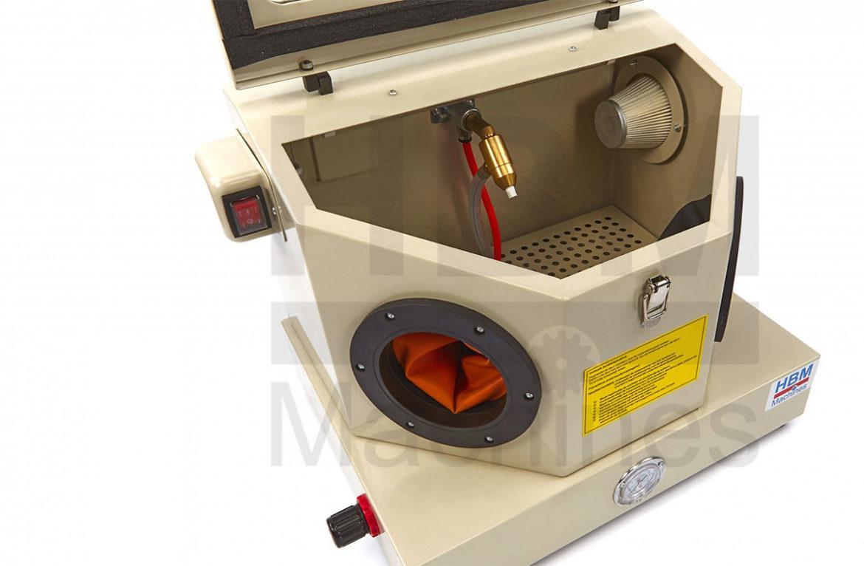HBM SBC 30 liter sandblåsekabinett