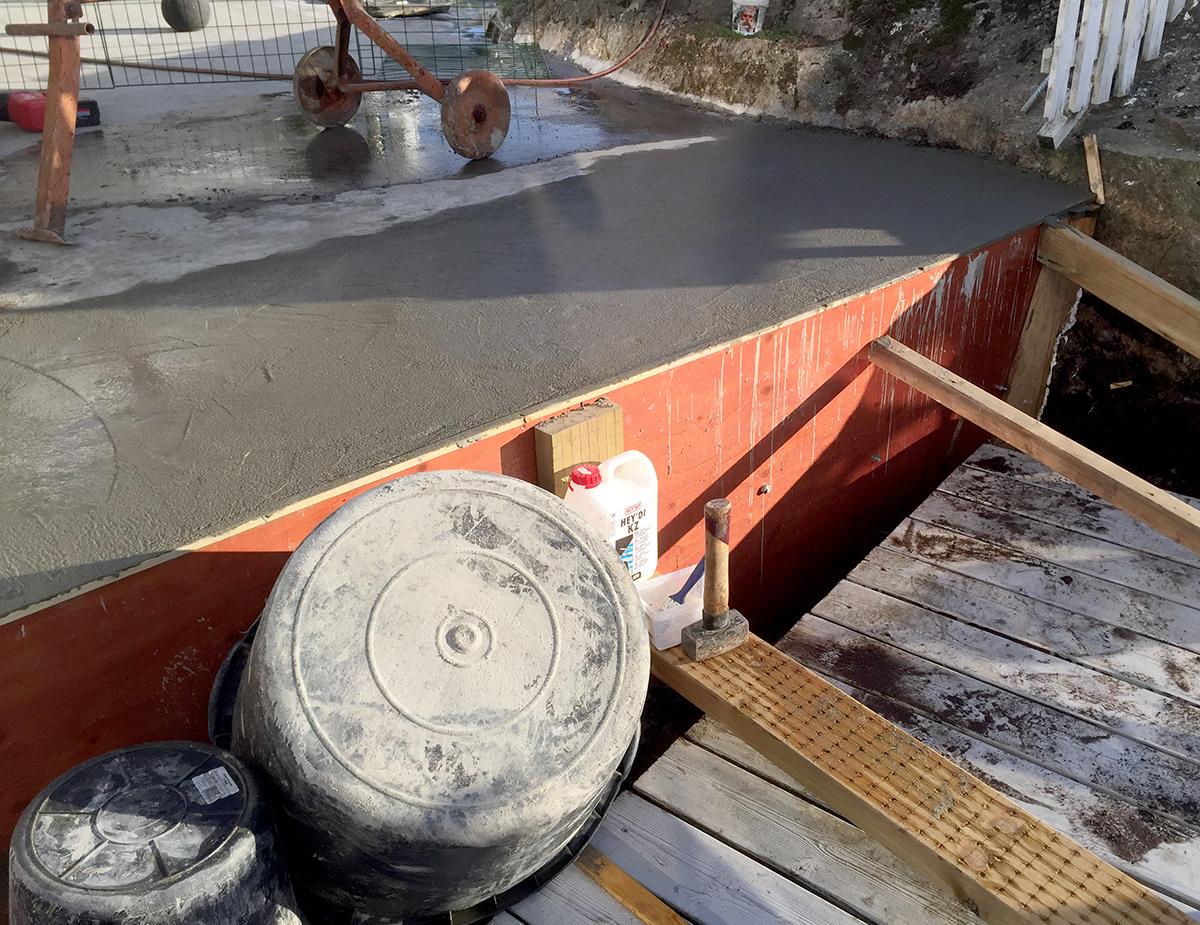 Ferdig betongstøp