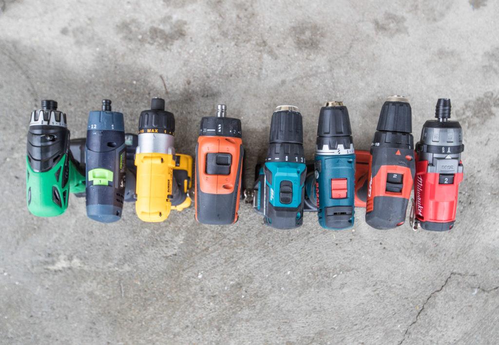 Åtte 10,8 og 12V skrumaskiner i test.
