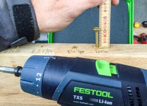 Festool TXS ble nest sist i styrketesten