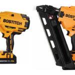 Bostitch dykkertpistol BCN 680 t.v. BCF28 spikerpistol t.h.