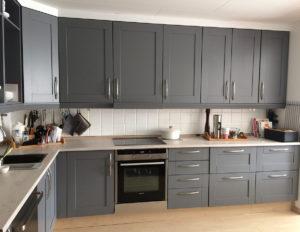 Kjøkken etter maling
