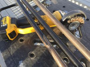 Vinkelsliper stålbørste Hammerite