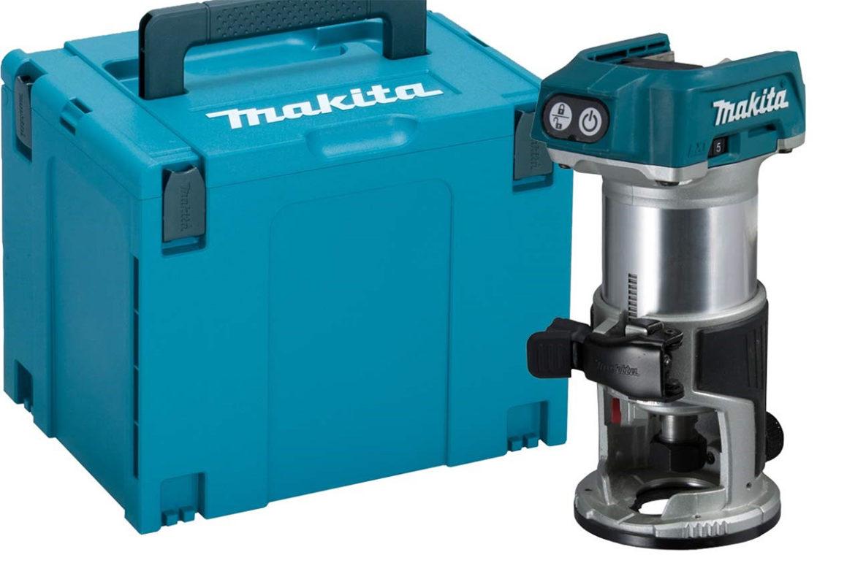Makita DRT50 –kantfres på batteri 18V.
