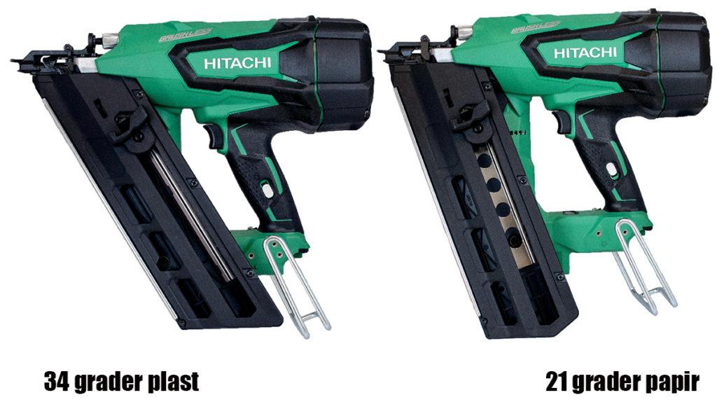 Hitachi NR1890 DBRL og DBCL spikerpistol.