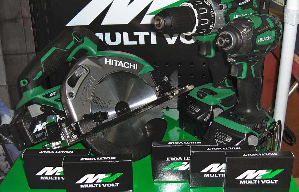 Hitachi 36V maskiner og Multi-Volt 18V / 36V batteri.