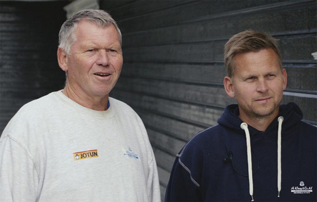 Arnfinn (t.v.) og Anders Waag.
