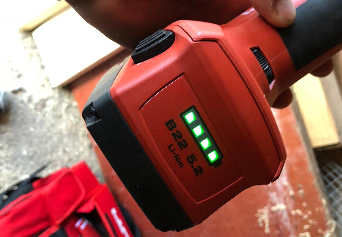 Hilti 22V 5,2 Ah batteri.