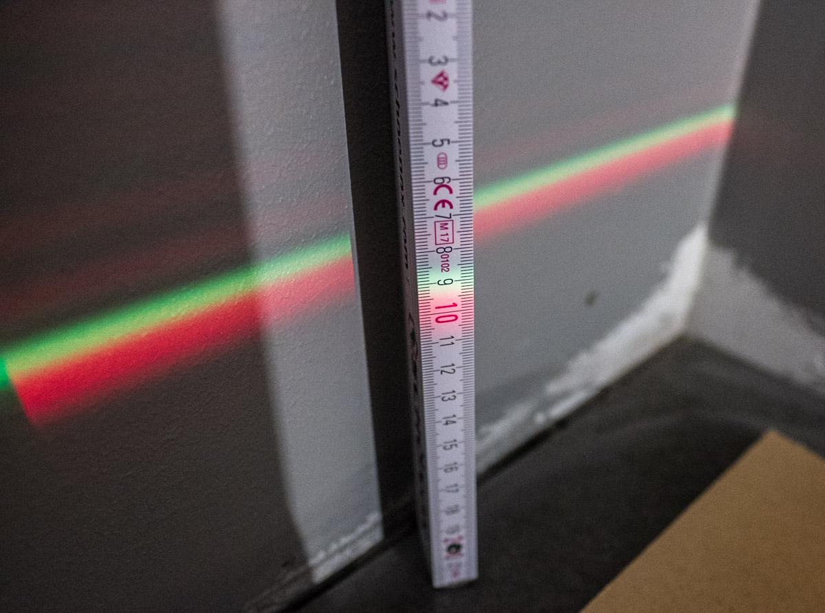 Rød og grønn laser