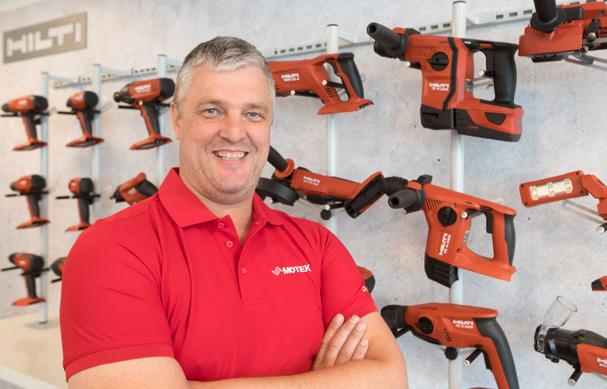 Sindre Dyb, produktsjef for Hilti hos Motek AS.