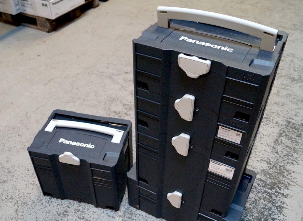 Panasonic verktøy leveres nå i Tanos T-Loc Systainer kofferter