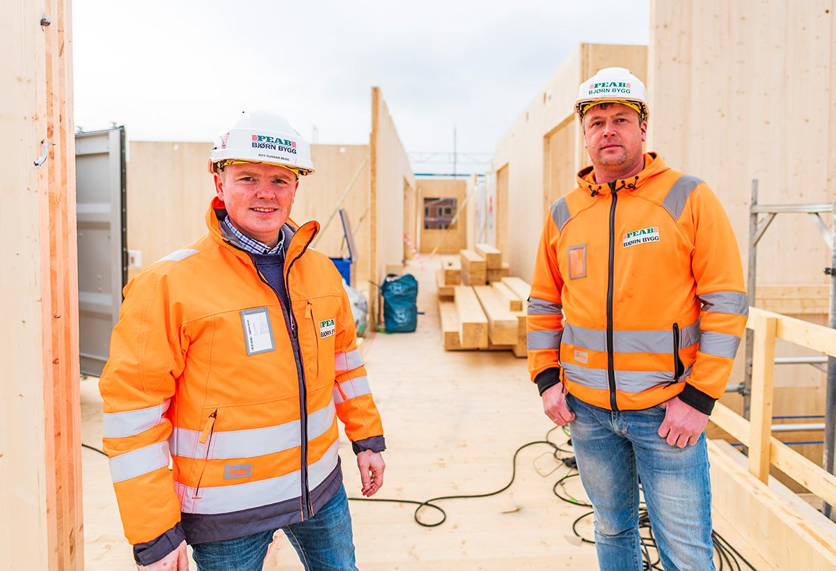 Roy Gunnar Berg og Kjetil Farstad, Peab Bjørn Bygg AS.