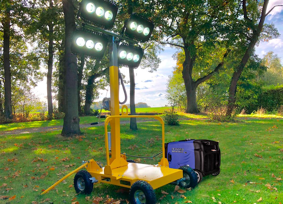 LT 600-LED lysmast på hjul