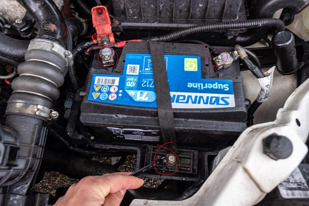 Bilbatteri festestropp.