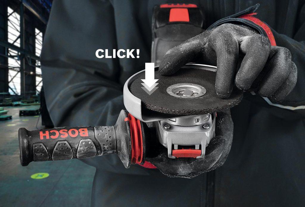 Bosch X-Lock, hurtigfeste på vinkelslipere.