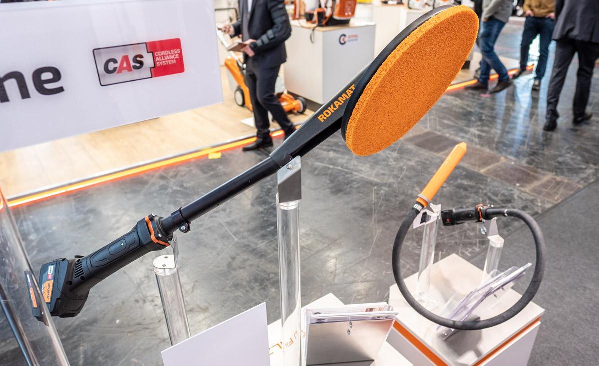 Rokamat Sponge Float filsemaskin og Ø28 mm betongvibrator