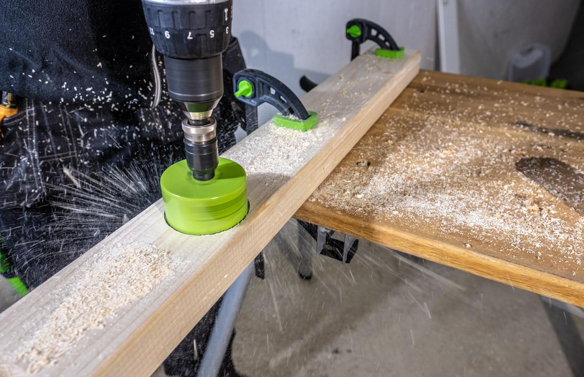 TCT hardmetall hullsag kan holde høy hastighet i treverk uten spiker eller skruer