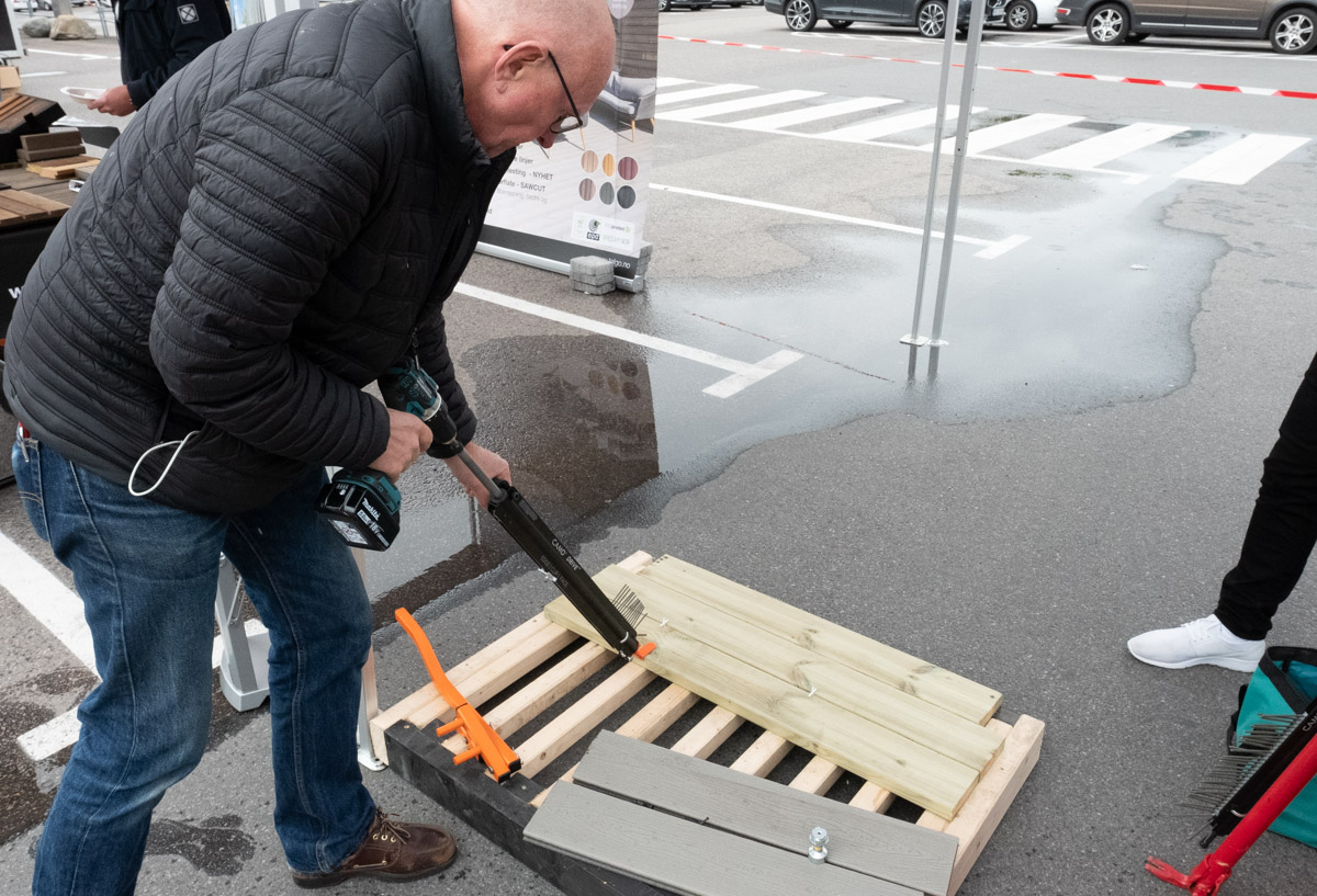 Arne Franck-Petersen demonstrerer nye Camo Drive