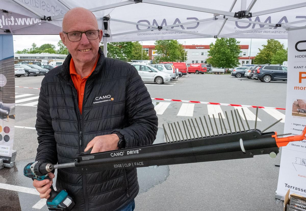 Arne Franck-Petersen med nye Camo Drive.