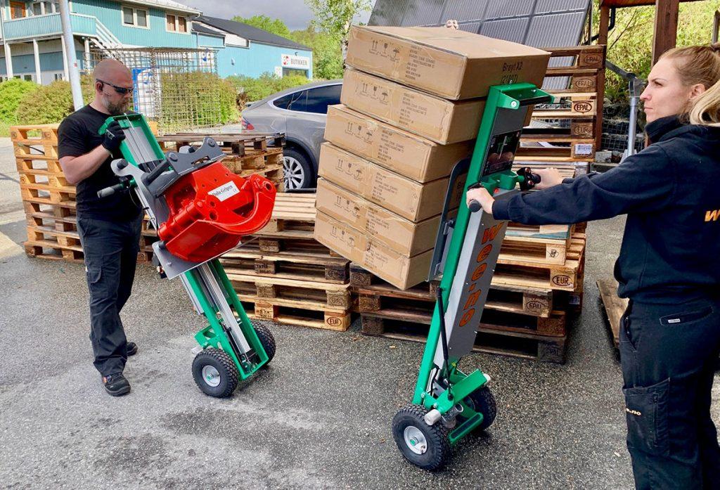 Tiller Liftmobile løfter 110 cm høyt.