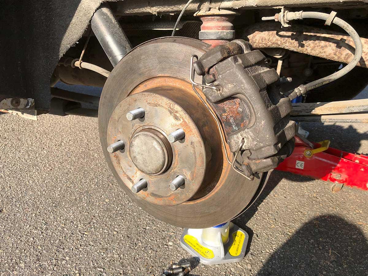 Bremseskive og hjulbolter