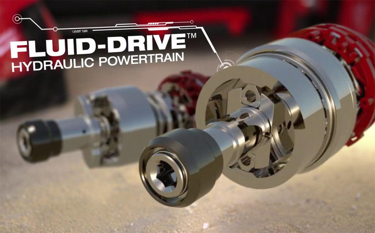 Milwaukee Fluid-Drive slagmekanisme.