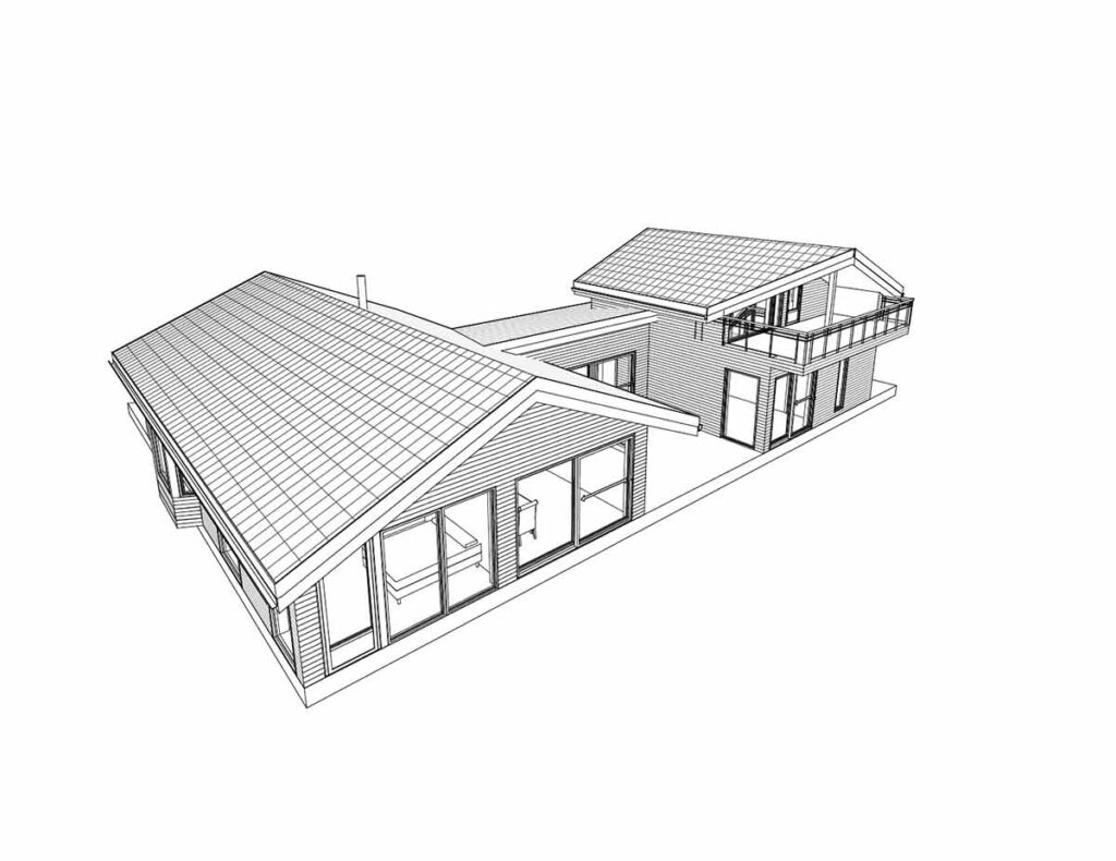 3D tegning av hus - H22