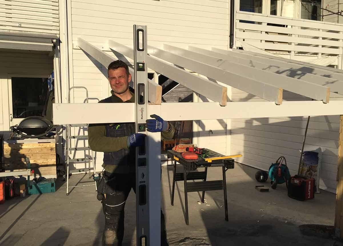 Bygging av terrassetak