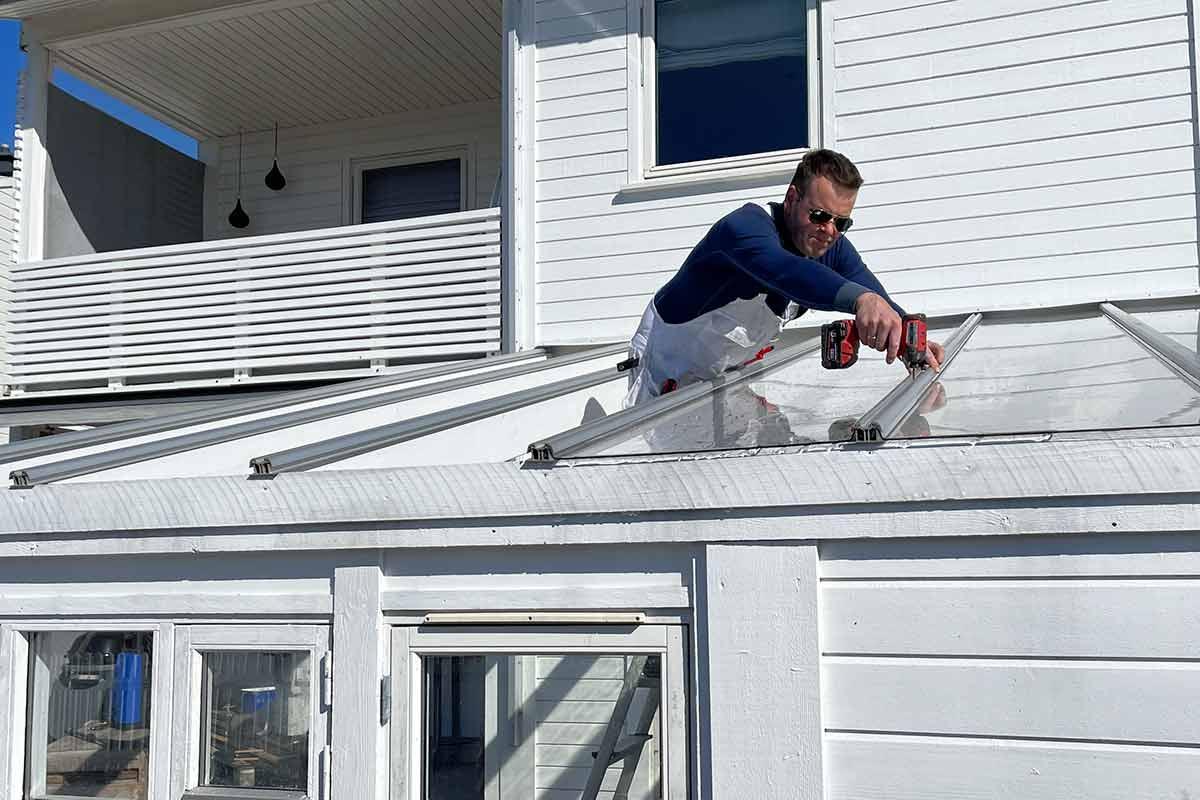 Montering av Sunglaze takplater