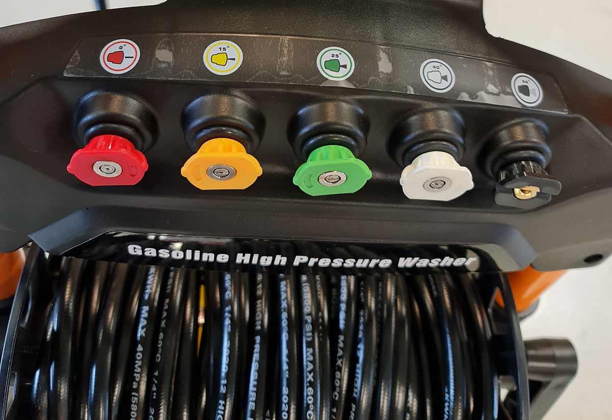Anvema høytrykksvasker med bensinmotor - dyser